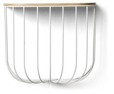 FUWL Cage hylle, hvit/lys ask i gruppen Møbler / Oppbevaring / Hyller hos ROOM21.no (131802)
