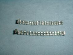 set of two vintage sp double row clear by fadedglitter42263, $28.00