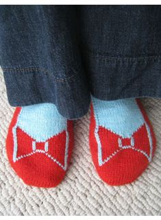 Check out these cute socks from Knit Picks. I think I need to get this pattern - Dorothy's Ruby Slippers