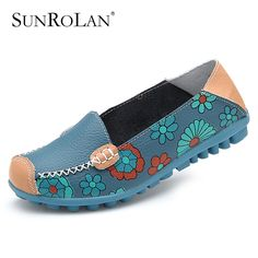 2015 fashion genuine leather women flats spring and autumn color block single shoes for woman casual mother shoes BFS3591