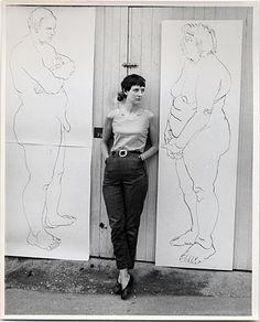Citation: Eleanor Dickinson at the Hugh Triton Gallery, ca. 1967 / unidentified photographer. Eleanor Dickinson papers, Archives of American Art, Smithsonian Institution.