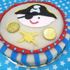 kinderfeestje Piraten, verjaardagstaart, kidsparty Pirates, birthday cake