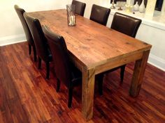 Ontario reclaimed wood harvest table.