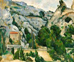 Paul Cezanne - Viaduct at L'Estaque, 1882 Phillips Collections Art Gallery Washington DC Cezanne Art, Paul Cezanne Paintings, Art Paintings, Van Gogh, Paul Gauguin, Claude Monet, French Artists, Renoir, Picasso