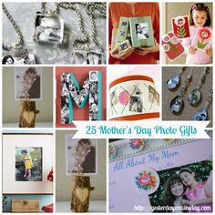 DIY Photo Gift Ideas #mothersday #mothersdaygifts #mothersdaycrafts #yesterdayontuesday