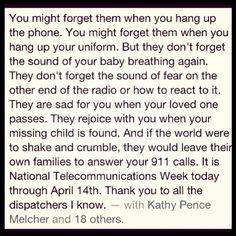Happy #NationalTelecommunicationsWeek!LOVE YOUR 911 DISPATCHERS!