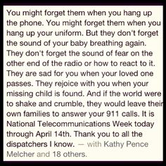 Happy #NationalTelecommunicationsWeek!LOVE YOUR 911 DISPATCHERS!