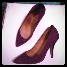 HP ISABEL MARANT  NWOT Isabel Marant  Zebre shoes. Color Bordeaux with black heel and zebra pattern. 100% calf velvet leather. Made in France.  4inch heels. Shoes never been worn, like new. Size 37/7. They also have bottom of the heel replacements. Isabel Marant Shoes