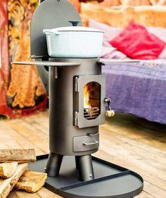 Tiny tent stove
