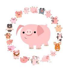 pigs,whimsical-b28314f4d54154ab1cd5c9427a50d36c_h.jpg (400×400)