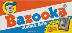 The good old days...when gum was as hard as cement...