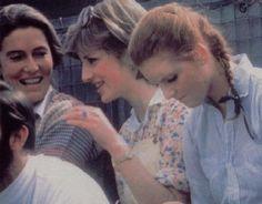 Lady Diana & Sarah Ferguson at the polo at Cowdray Park Polo Club July 12, 1981.