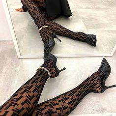 Fendi, Classy Aesthetic, Aesthetic Clothes, Aesthetic Black, Japanese Aesthetic, Heeled Mules Sandals, Style Urban, Fashion Shoes, Fashion Outfits