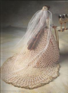 Ganchillo Crochet Barbie Doll ropa nupcial Belle por luvinthecrafts