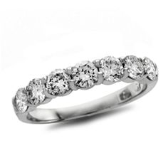 3/4 CT. T.W. Diamond Seven Stone Wedding Band in Platinum