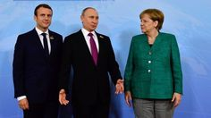 In Hamburg Merkel, Macron and Putin's meeting has begun