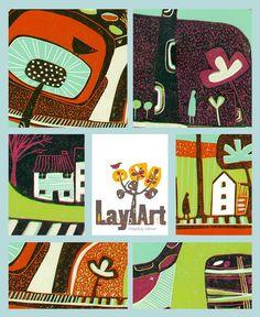 Art Collector Limited Edition Lino Print, Original Reduction Linocut Print Landscape, Multi Colour Linocut, Art for Living Room, Gift ideas Artwork For Living Room, Linoprint, Borders For Paper, Colorful Artwork, Landscape Prints, Bedroom Art, Linocut Prints, Modern Prints, Lovers Art