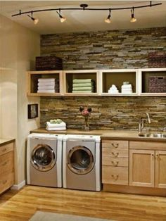 Laundry would be a pleasure to do in this room