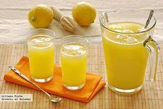 Refrescante limonada de piña con un toque de jengibre. Receta