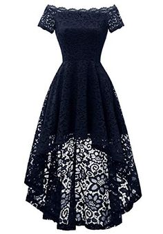 Dressystar 0042 Off Shoulder Hi-Lo Lace Dress Short Sleeve F. - RochiiDressystar 0042 Off Shoulder Hi-Lo Lace Dress Short Sleeve Formal Cocktail Dresses Navy S Brand: Dressystar Note: Please do refer to the size chart below the dress images before Cute Prom Dresses, Grad Dresses, Pretty Dresses, Homecoming Dresses, Beautiful Dresses, Maxi Dresses, Casual Dresses, Awesome Dresses, Long Dresses