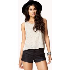 FOREVER 21 Sleeveless Lace Top ($16)
