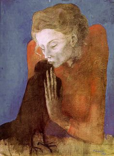 Woman with Raven by Pablo Picasso