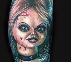 Bride of Chucky tattoo by Mike Devries