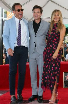 Jennifer Aniston might want to consider stand-up comedy after her performance at Jason Bateman's Hollywood Walk of Fame ceremony. Jason Bateman, Long Time Friends, Child Actors, Hollywood Walk Of Fame, Jennifer Aniston, Suit Jacket, Style Inspiration, Actresses, Formal