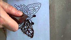 Как делать шоколадную бабочку. - YouTube