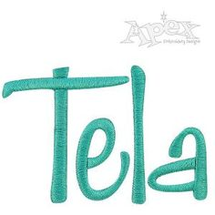 Tela Embroidery Font