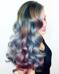 "@aprilbloom: ""✨☄Opalescent Wave☄✨ She gave me full creative freedom and we both fell in love with the warm & cool results! Created using @joico & @aveda"""
