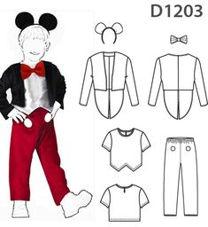 Minnie Mouse Halloween Costume, Mickey Mouse Costume, Boy Costumes, Adult Costumes, Baby Fancy Dress, Fiesta Mickey Mouse, Beast Costume, Disney Cross Stitch Patterns, Baby Sewing Projects