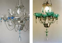 Inspiration by Madeleineboulesteix in Fat & Sassy : upcycled chandelier