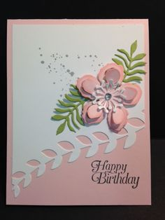 A Botanical Builders Birthday Card with Gorgeous Grunge and Sky is the Limit