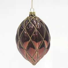 Le Forge Glass Diamond Pattern Amber Brown