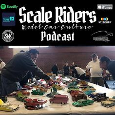 @scaleriders Podcast Episode 72 is now live. Listen thru scaledworld.net iTunes Spotify. Stitcher. #modelcarculture #scaleriders #podcast #dedicatedmagazine #lowrider #socalopen2019 Lowrider Bike, Model Cars Kits, Itunes, Scale, Live, Toys, Instagram, Templates, Scale Model