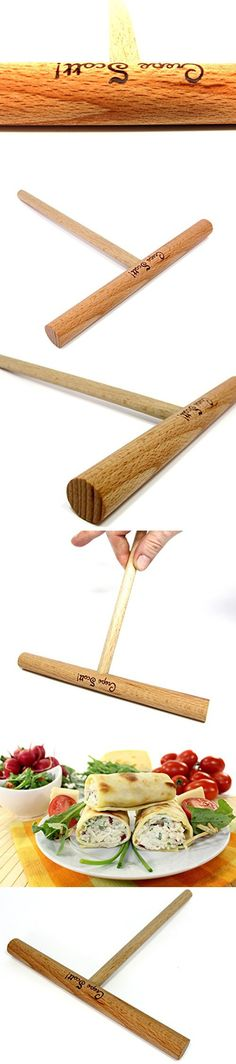 Seven Inch Crepe and Pancake Batter Spreader. Made of Beechwood and Seasoned with Mineral Oil. By Crepe Scott.