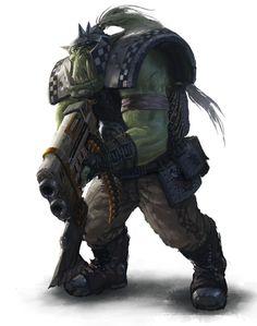goff-klan orks portrait shoota