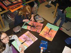 Jamestown Elementary Art Blog: 5th grade Gustav Klimt Tree Landscapes