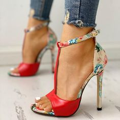 Women Party High Sandals Summer Open Toe Sandals Heels Welcome to our store! Description Style:Fashion Pattern Type:Patchwork,Floral Material:Satin,PU Occasion:Weekend & Workwear & Going Out Package Sandals Heel Height: Super High Heels, Hot High Heels, Womens High Heels, Hot Shoes, Crazy Shoes, Me Too Shoes, Women's Shoes, Dress Shoes, Dress Outfits