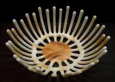 Fused Glass Bowl / Sculpture SUNBURST by CreationInGlass