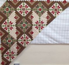 Look at this interesting quilt ideas - what a creative design and development Big Block Quilts, Star Quilt Blocks, Star Quilts, Scrappy Quilts, Quilting Projects, Quilting Designs, Quilting Ideas, Charm Square Quilt, Log Cabin Quilts