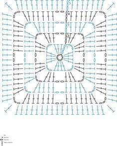 Transcendent Crochet a Solid Granny Square Ideas. Inconceivable Crochet a Solid Granny Square Ideas. Crochet Motif Patterns, Granny Square Crochet Pattern, Crochet Diagram, Crochet Chart, Crochet Granny, Diy Crochet, Crochet Stitches, Crochet Squares, Crochet Blocks
