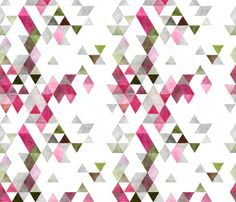 watermelon watercolor triangles fabric by ivieclothco on Spoonflower - custom fabric