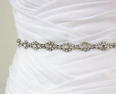 Ready To Ship - PHOEBE - Crystal Rhinestone Bridal Sash, Beaded Wedding Sash, Rhinestone Bridal Belt, Bridal Assessory. $65.00, via Etsy.