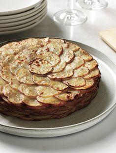 Healthy Potato Gratin with Herbs.