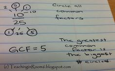 Teaching in Room 6: Simplifying Fractions...oh boy