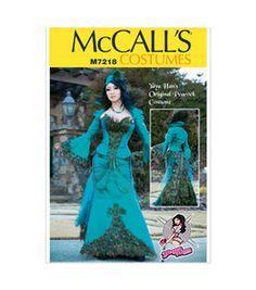 McCall's Pattern M7218-A50 Yaya Han Peacock Jacket, Corset and Skirt-6-8-10-12-14