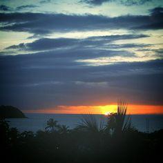 Coucher de soleil sur l'Anse à l'Ane. Sunset