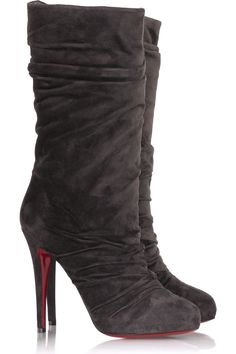 Louboutin Piros Boots . . .  are MINE ;-)  Yay!!